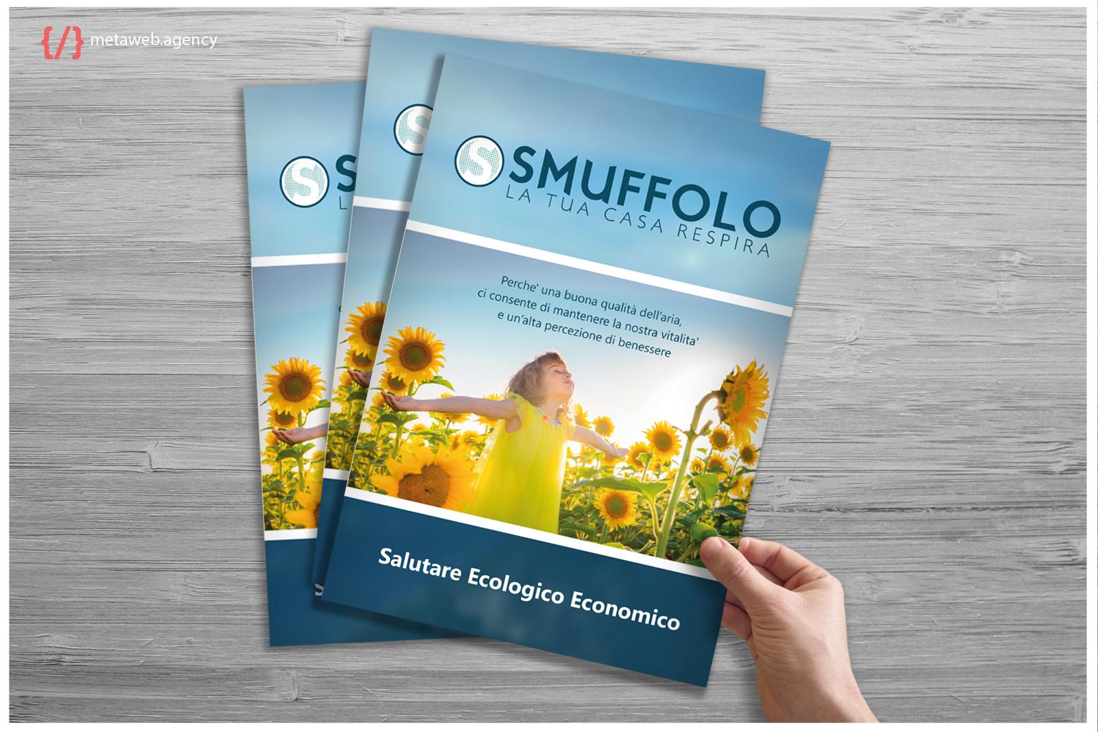 Mockup brochure - Metaweb web agency - grafiche e stampati