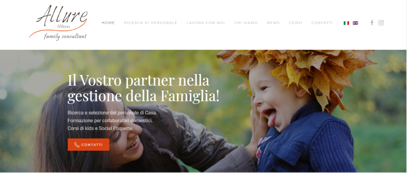 Sito web Allure Milano - web design - metaweb web agency